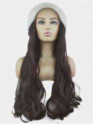 Bucket Hat Integrated Long Body Wave Synthetic Wig -