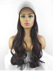 Peaked Hat Integrated Long Body Wave Synthetic Wig -