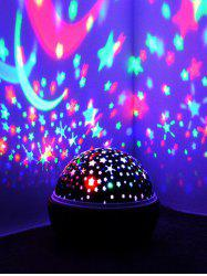 Colorful Stars and Moon Pattern Rotating Projector LED Night Light -