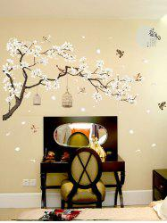 Flower Tree and Birds Print Decorative Wall Art Stickers -