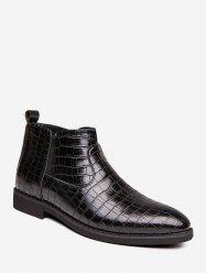 Snakeskin Embossed Pointed Toe Chelsea Boots -