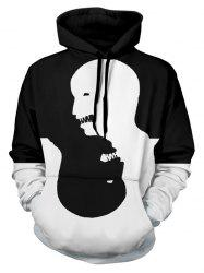 Two Tone Panel Halloween Character Pullover Hoodie -