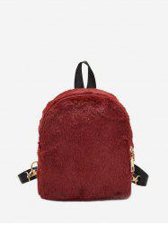 Solid Faux Fur Mini Teddy Backpack -