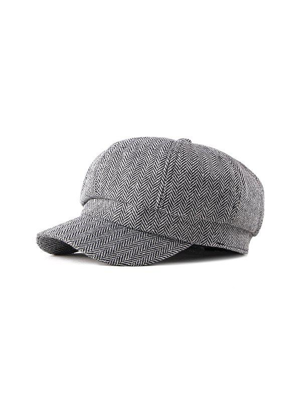 Outfits Herringbone Pattern Retro Autumn Cap