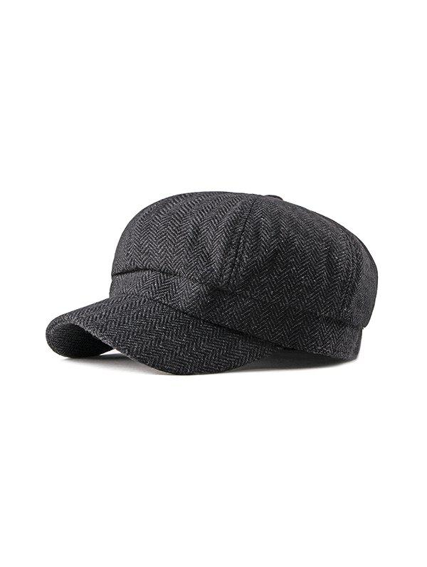 Trendy Herringbone Pattern Retro Autumn Cap