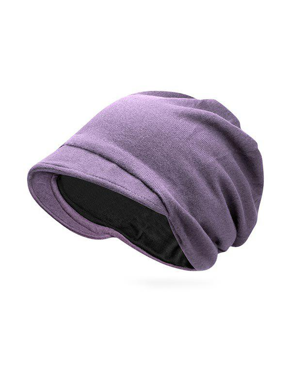 Shop Solid Color Casual Skull Beanie