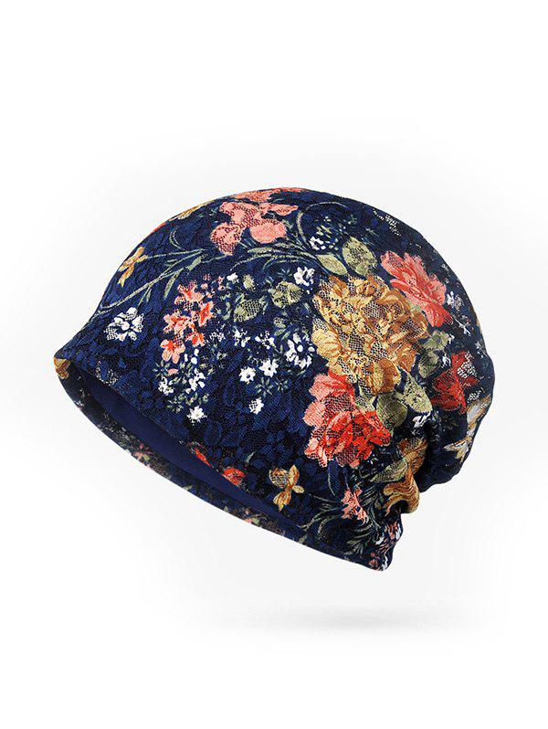 Sale Casual Floral Pattern Skull Beanie