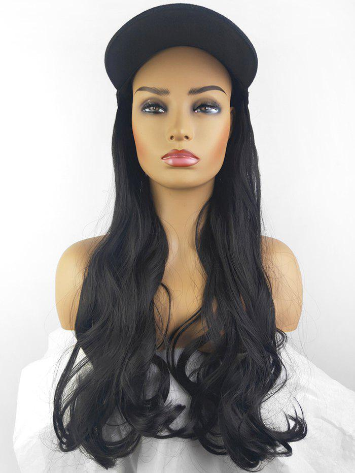 Buy Peaked Hat Integrated Long Body Wave Synthetic Wig