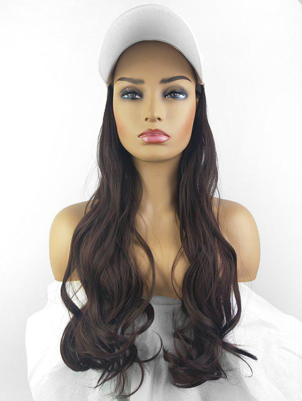 Outfit Peaked Hat Integrated Long Body Wave Synthetic Wig