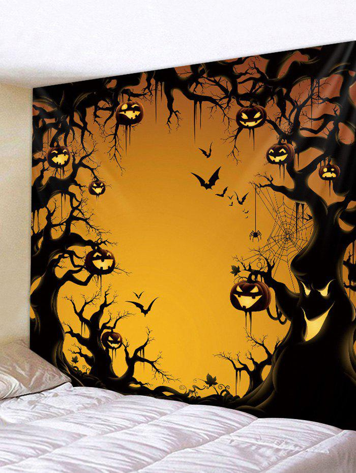 Unique Gothic Pumpkin Tree Print Art Decoration Wall Tapestry