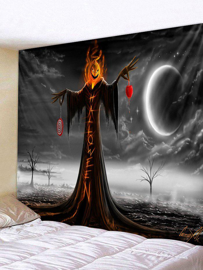 Outfit Gothic Pumpkin Head Print Art Decoration Wall Tapestry