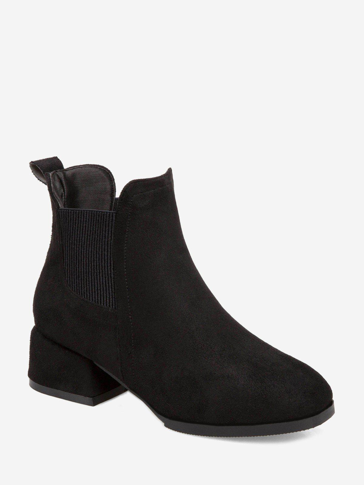 Discount Solid Color Chunky Heel Leisure Boots