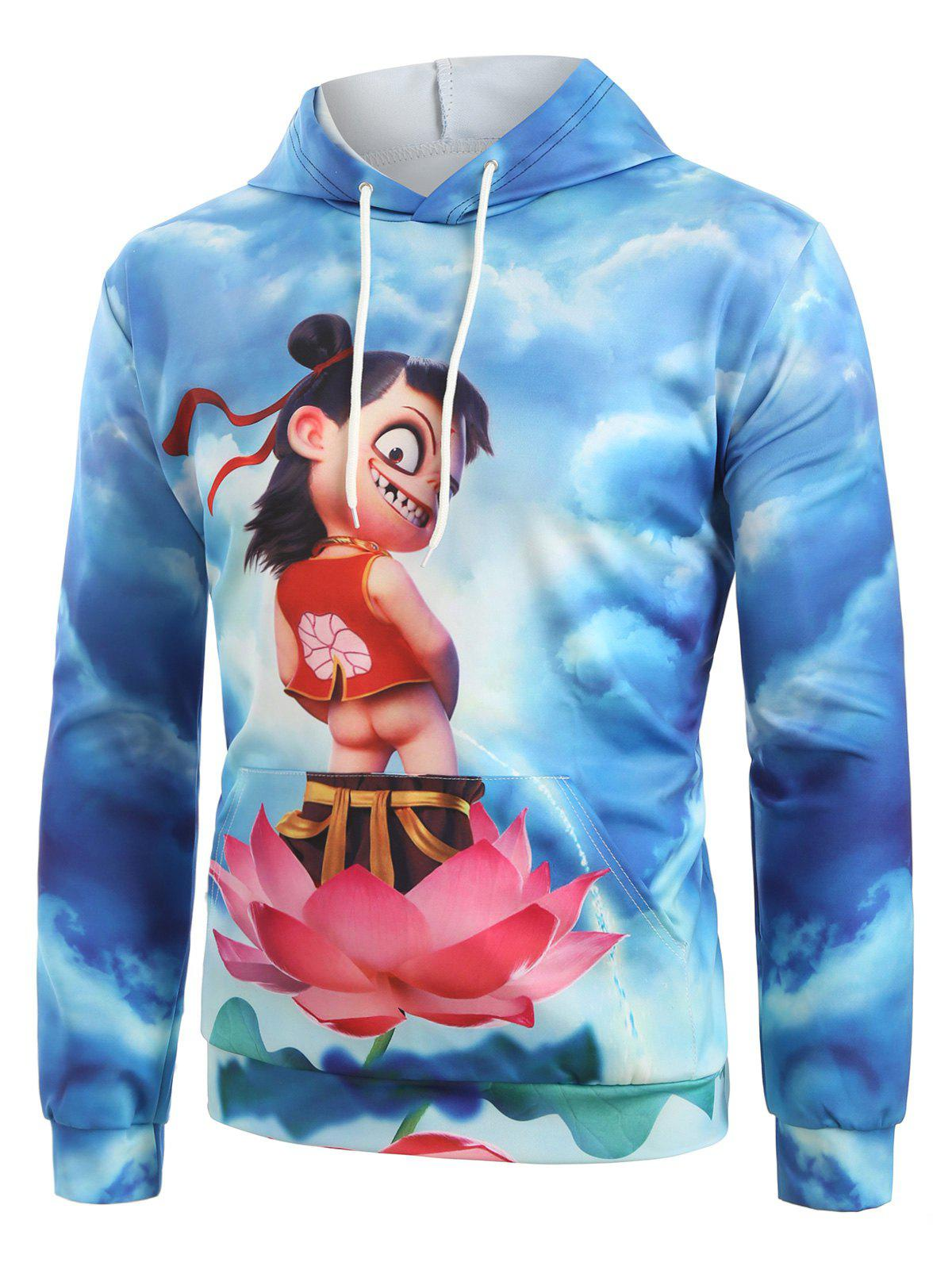 Shop Funny Chinese Na Cha Graphic Front Pocket Hoodie