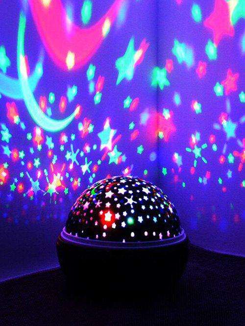Latest Colorful Stars and Moon Pattern Rotating Projector LED Night Light
