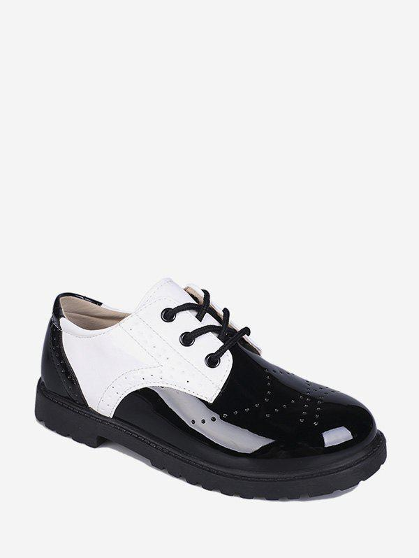 Latest Wingtip Patent Leather Round Toe Shoes