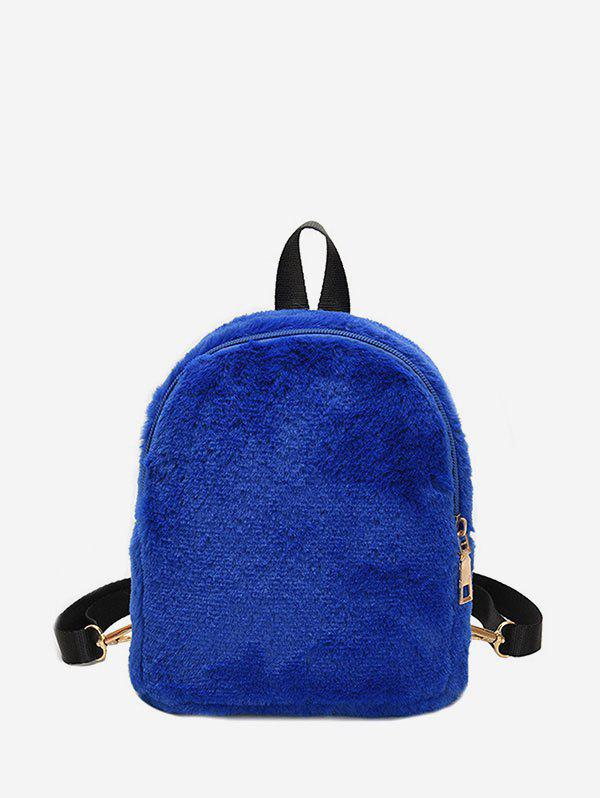 Chic Solid Faux Fur Mini Teddy Backpack