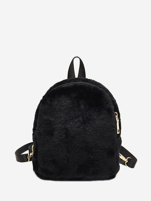 Hot Solid Faux Fur Mini Teddy Backpack