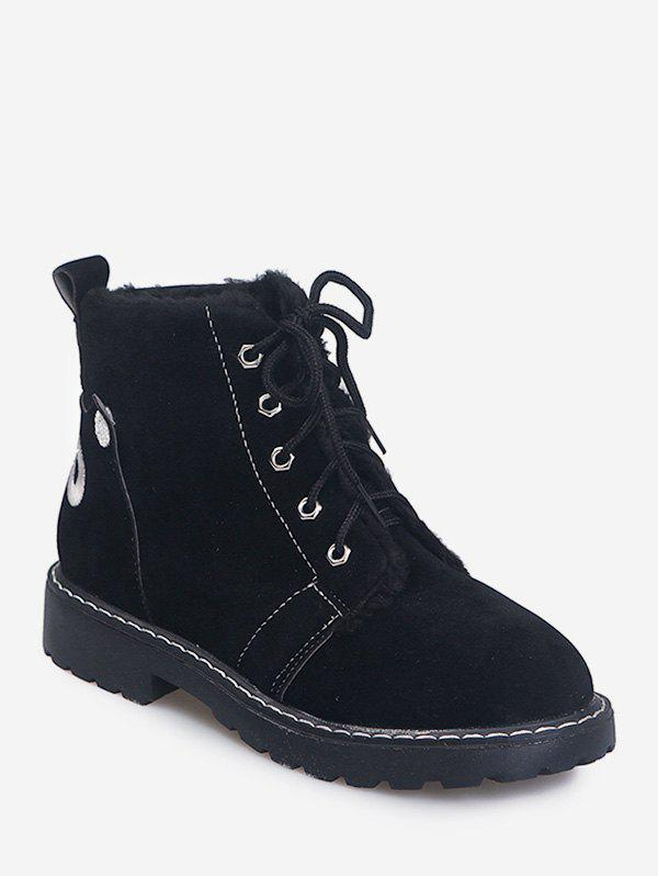 Hot Back Animal Embroidery Suede Ankle Boots