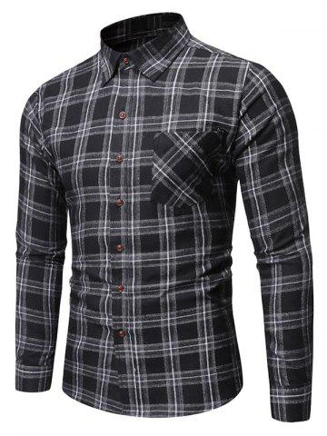 Plaid Pattern Pocket Decorated Casual Shirt