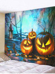 Halloween Pumpkins Board Printed Pattern Tapestry -