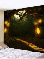 Halloween Horror Night Forest Print Tapestry Wall Hanging Art Decoration -