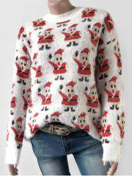 Santa Claus Fluffy Christmas Pullover Sweater -