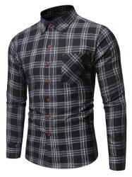 Plaid Pattern Pocket Decorated Casual Shirt -