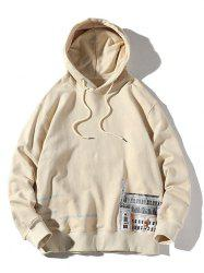 Plus Size Letters and Building Print Drawstring Hoodie -