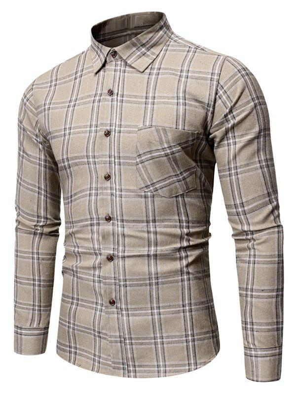 Chic Plaid Pattern Pocket Decorated Casual Shirt