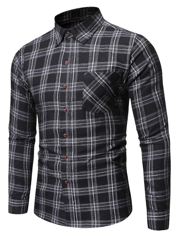 Shop Plaid Pattern Pocket Decorated Casual Shirt