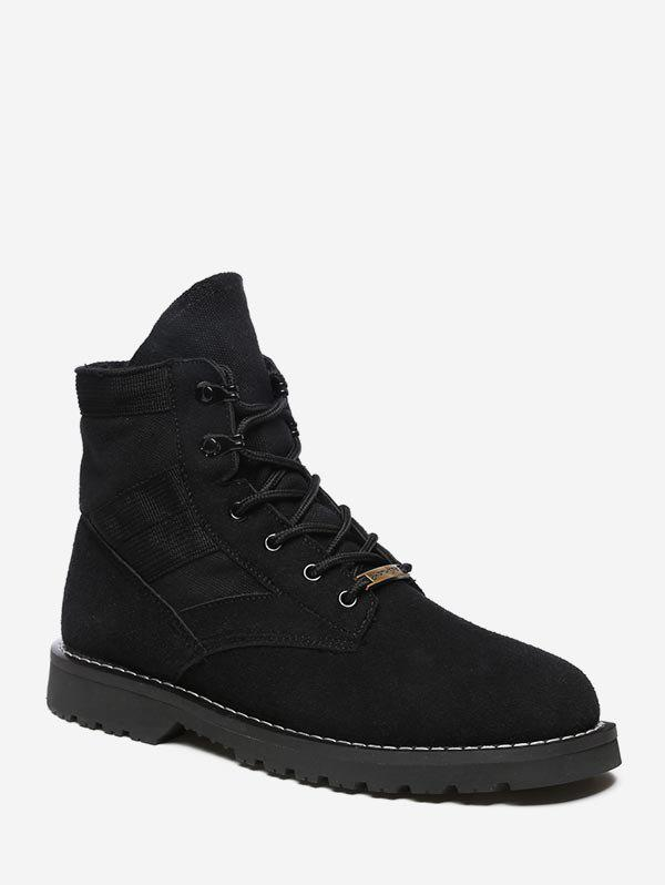 Fancy Simple Lace Up Cargo Boots