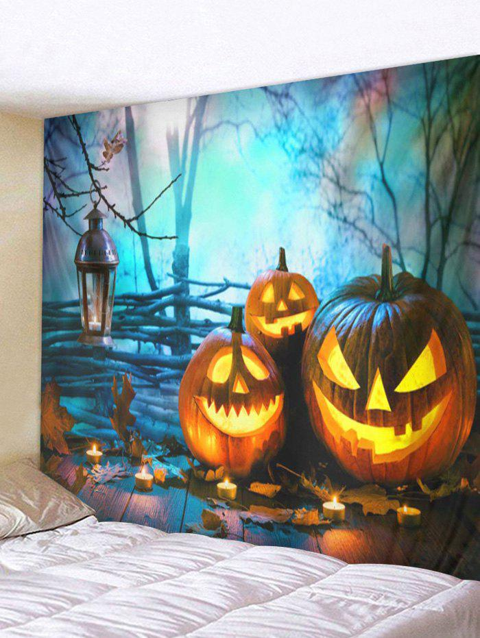 Fancy Halloween Pumpkins Board Printed Pattern Tapestry