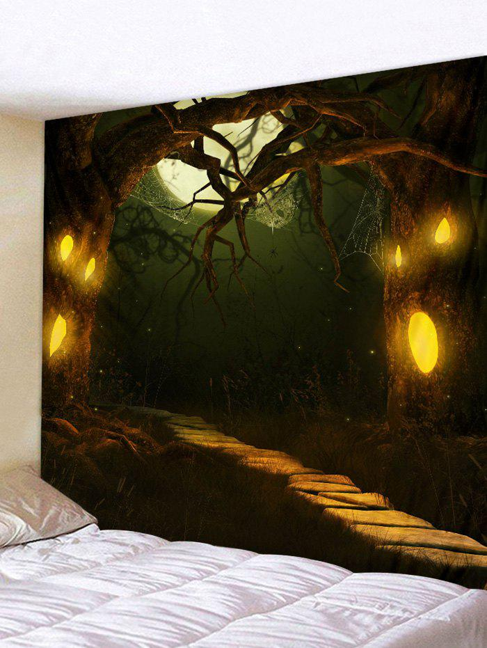 Chic Halloween Horror Night Forest Print Tapestry Wall Hanging Art Decoration