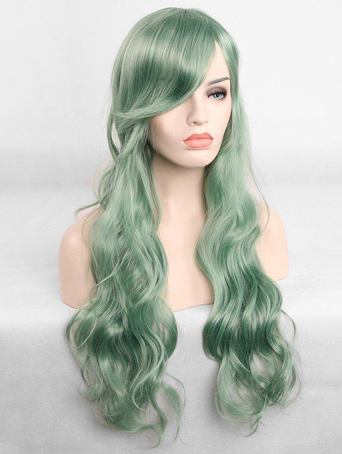 Shops Long Inclined Fringe Wavy Cosplay Synthetic Wig