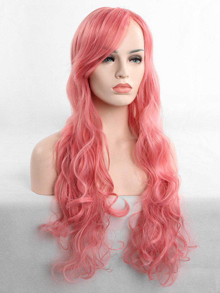 Shop Long Inclined Fringe Wavy Cosplay Synthetic Wig
