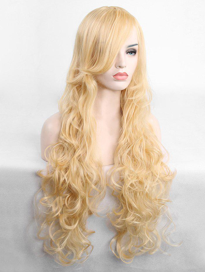 Fancy Long Inclined Fringe Wavy Cosplay Synthetic Wig