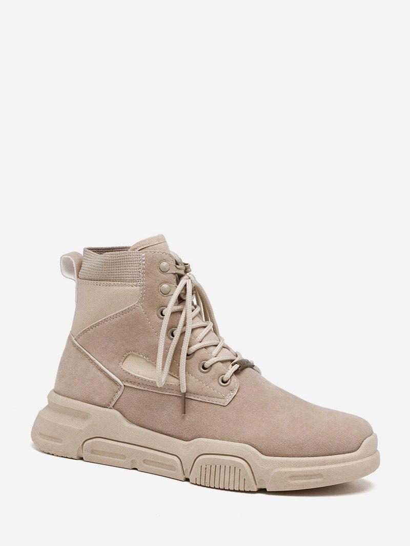 Sale Solid Color Suede Cargo Boots