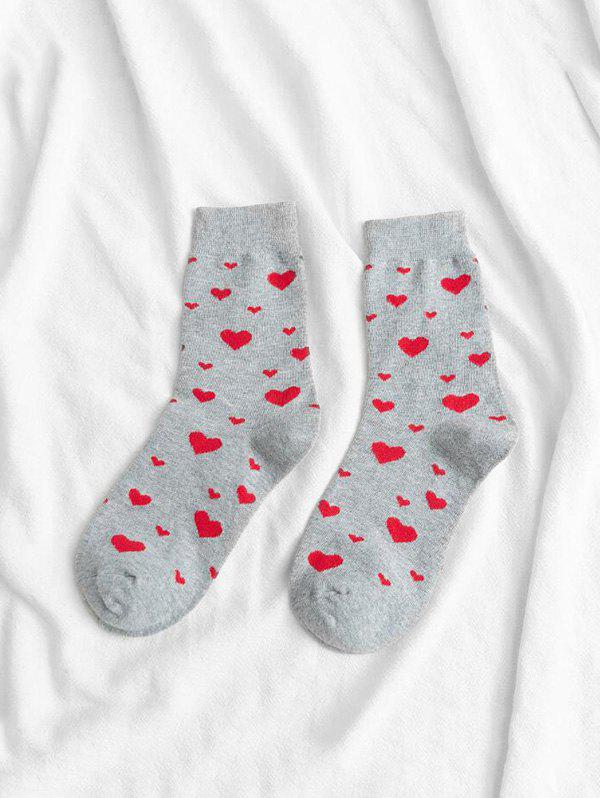 Best Cotton Heart Shape Crew Length Socks