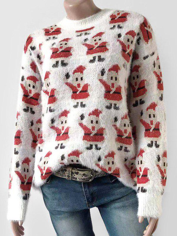 Shop Santa Claus Fluffy Christmas Pullover Sweater