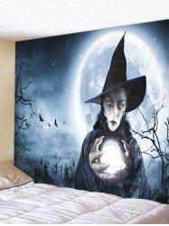 Halloween Witch Moon Printed Pattern Tapestry -