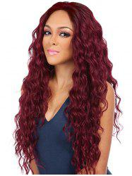 Center Part Long Halloween Synthetic Wavy Wig -