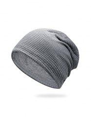 Solid Small Checkered Elastic Knitted Hat -
