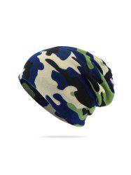 Camouflage Print KnittedDouble Use Scarf Hat -