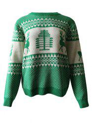 Reindeer Graphic Christmas Pullover Sweater -