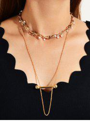 Pearl Decorate Layered Necklace -
