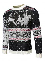 Wapiti Pattern Christmas Pullover Sweater -