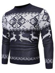 Christmas Wapiti Pattern Pullover Sweater -