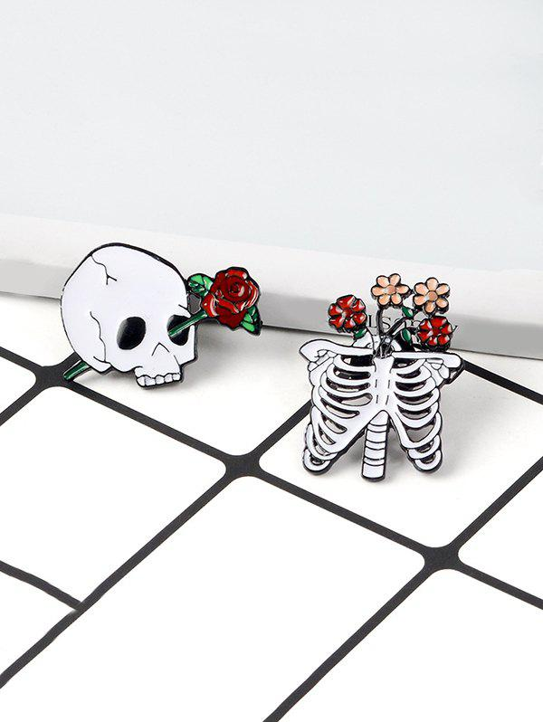 Cheap Skeleton Flower Brooch Set