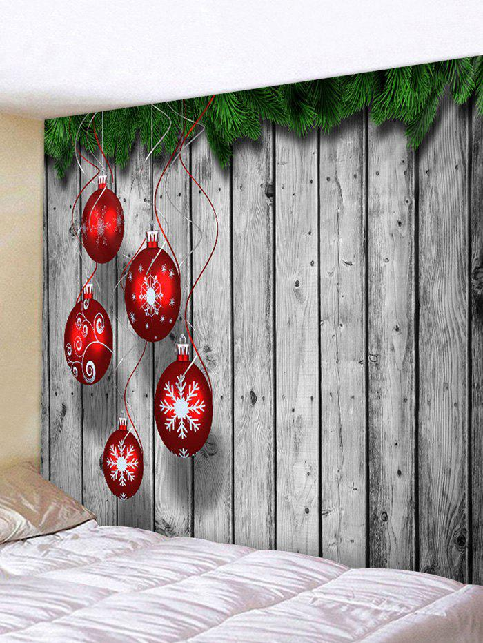 Buy Christmas Snowflake Ball Wooden Pattern Tapestry