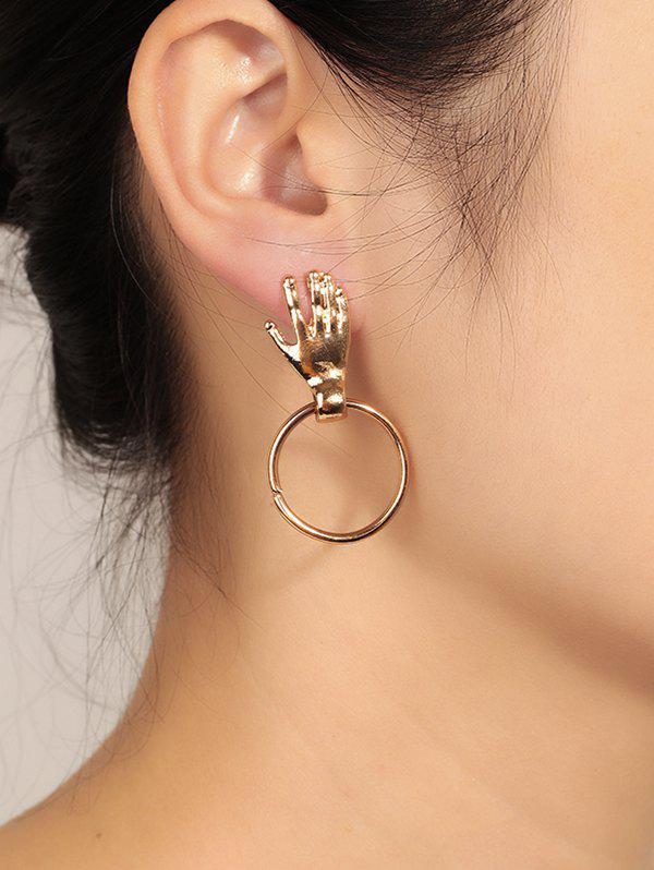 Affordable Unique Hand Circle Earrings